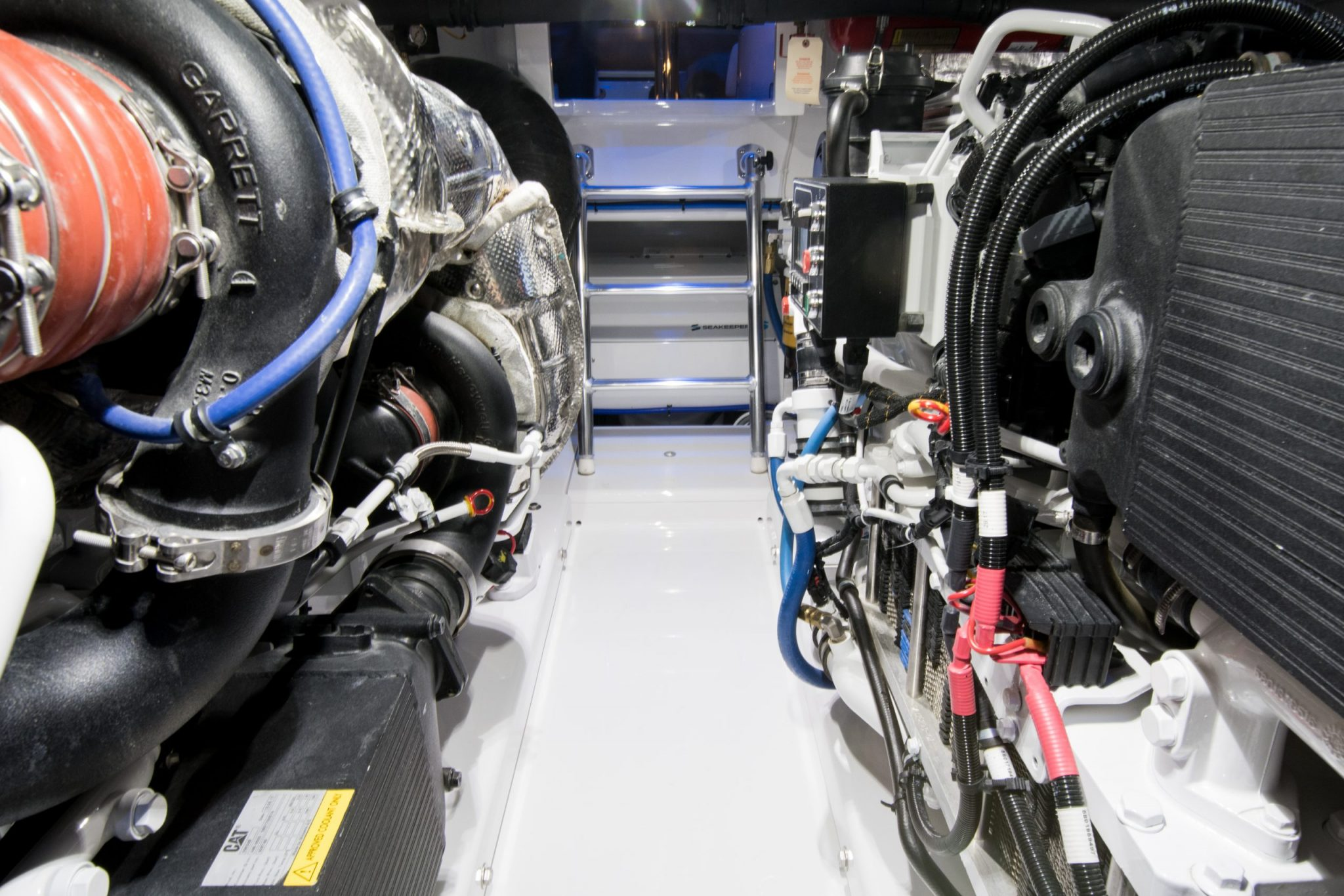 mechanical area of boat